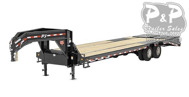 2021 PJ Trailers 14 in. I-Beam Low-Pro with Duals (L3) Flatbed Trailer