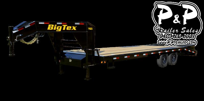 2021 Big Tex Trailers 14GN-25BK5MR Flatbed Trailer