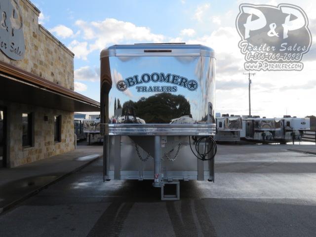 2021 Bloomer 8515PCOLSR 5 Horse Slant Load Trailer 15 FT LQ With Slides w/ Ramps