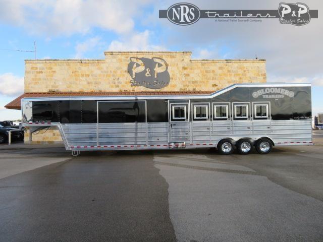 2021 Bloomer 8515PCOLSR 5 Horse Slant Load Trailer 15 FT LQ w/ Slideouts