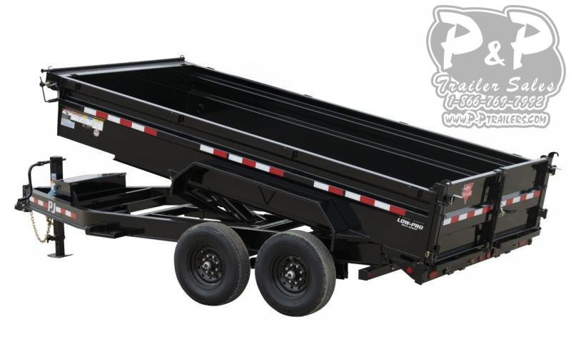 2021 PJ Trailers 14K Low-Profile Dump (DL) DLA1472BSSK 14 ' Dump Trailer