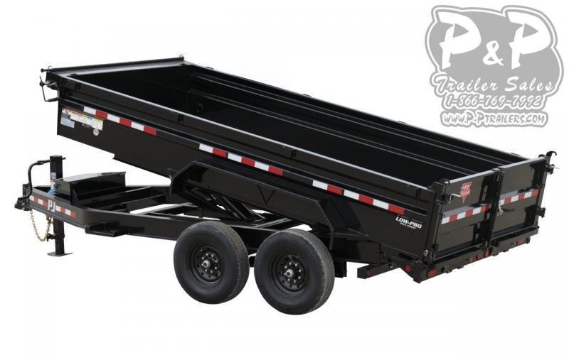 2021 PJ Trailers 14K Low-Profile Dump (DL) DLA1472BSSK 14 ' Dump Trailer