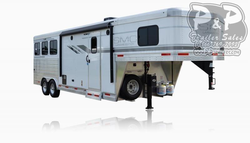 2021 SMC Horse Trailers SL8X9SR LARAMIE 3 Horse Slant Load Trailer 9 FT LQ With Slides