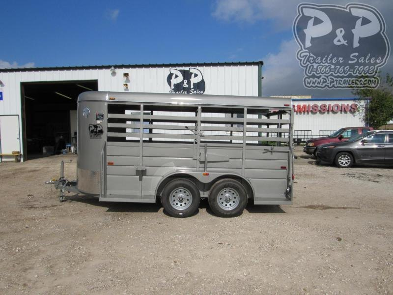 2021 W W Trailer 14x5 All Around 14 Livestock Trailer