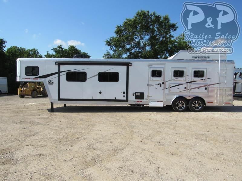 2021 Bison Trailers Laredo 8316LDSS 3 Horse Slant Load Trailer 16 FT LQ With Slides