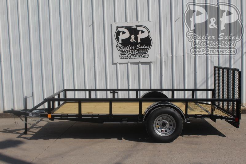 "2021 P and P PPSA12X72LDRGPTDT Light Duty Dovetail 72"" x 12 ' Utility Trailer"