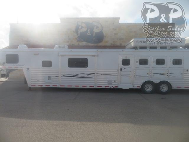 2004 Bloomer Duster Conversions 4 Horse Slant Load Trailer 18 FT LQ With Slides w/ Ramps