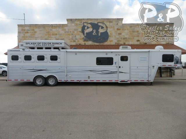 2005 Bloomer Duster Conversions 4 Horse Slant Load Trailer 18 FT LQ With Slides w/ Ramps