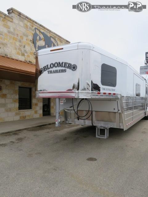 2021 Bloomer 8418PCOL 4 Horse Slant Load Trailer 18 FT LQ With Slides w/ Ramps