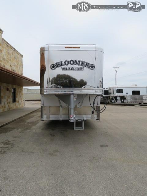 2021 Bloomer 8418PCOL 4 Horse Slant Load Trailer 18 FT LQ With Slides w/ Ramps