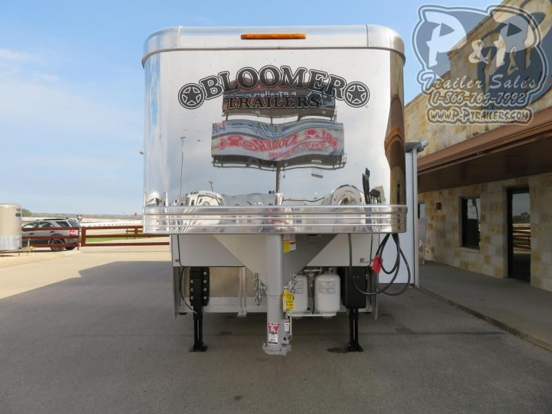 """2020 Bloomer Outlaw Conversions 3 Horse Slant Load Trailer 17' 2"""" FT LQ With Slides w/ Ramps"""