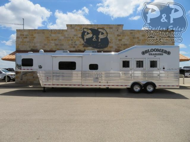 "2021 Bloomer Outlaw Conversions 3 Horse Slant Load Trailer 17'2"" FT LQ With Slides w/ Ramps"