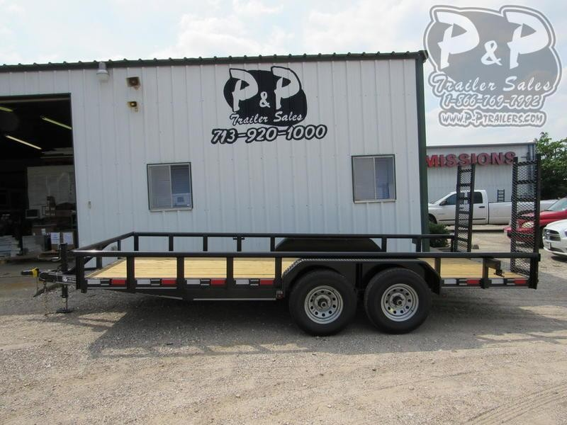 """2021 P and P Medium Duty Pipe Top 83"""" x 18 ' Utility Trailer"""