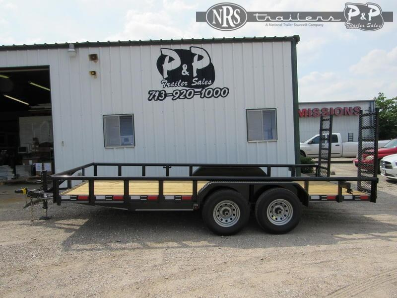 "2021 P and P Medium Duty Pipe Top 83"" x 18 ' Utility Trailer"