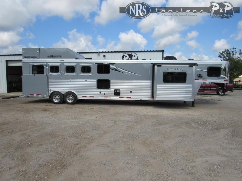 2021 Lakota Charger C8415BBRSL w/ Bunks 4 Horse Slant Load Trailer 15 FT LQ w/ Slideouts