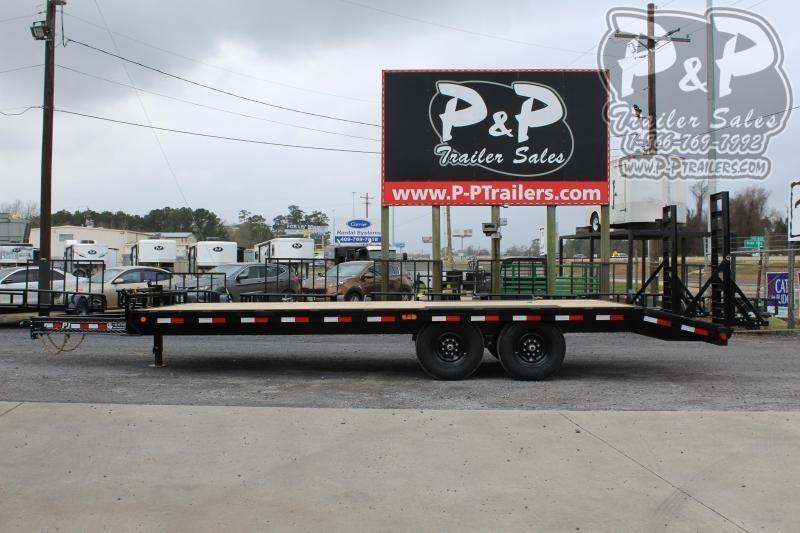 2020 PJ Trailers F8J2272BSBKMR 22 ft Flatbed Trailer