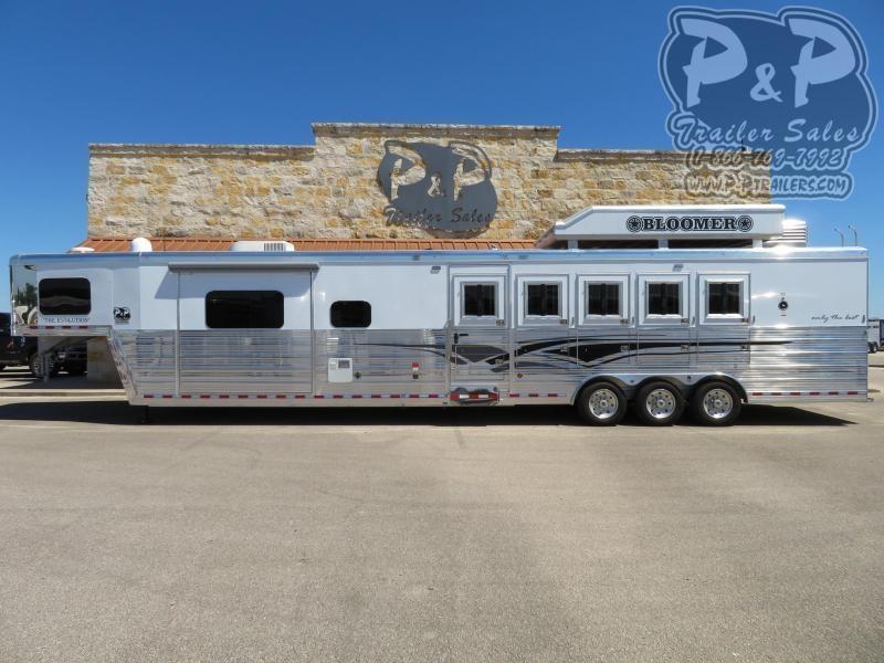 2021 Bloomer 8516PCOL 5 Horse Slant Load Trailer 16 FT LQ With Slides w/ Ramps