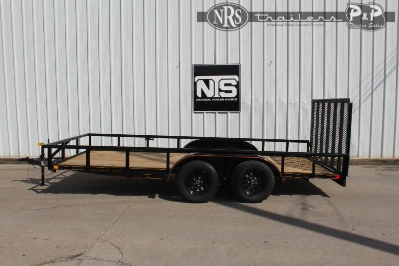 2021 P and P PPTA16X83GDRGPT 16 ' Utility Trailer
