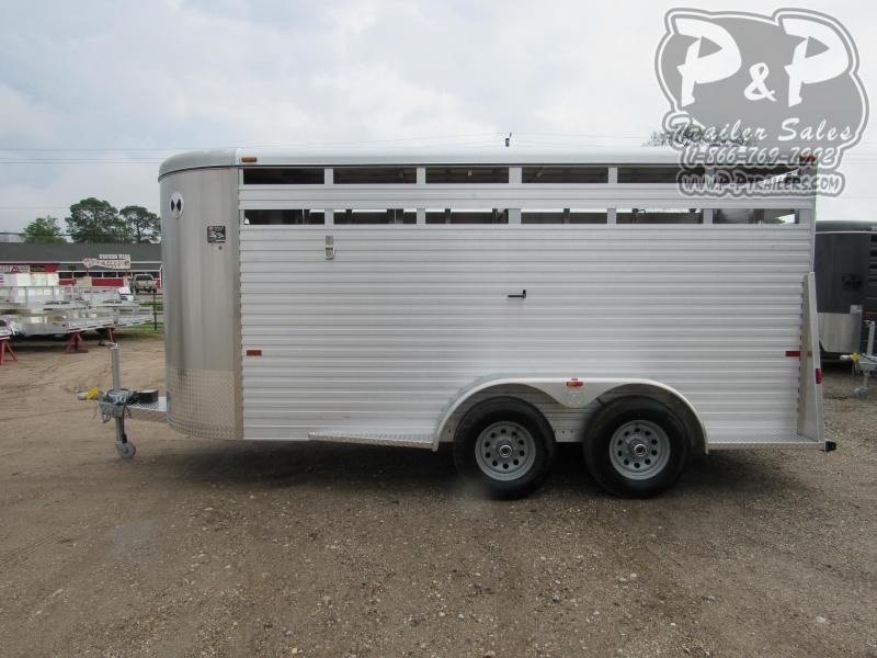 2020 W-W Trailer 6x16 Aluminum 16 ft Livestock Trailer