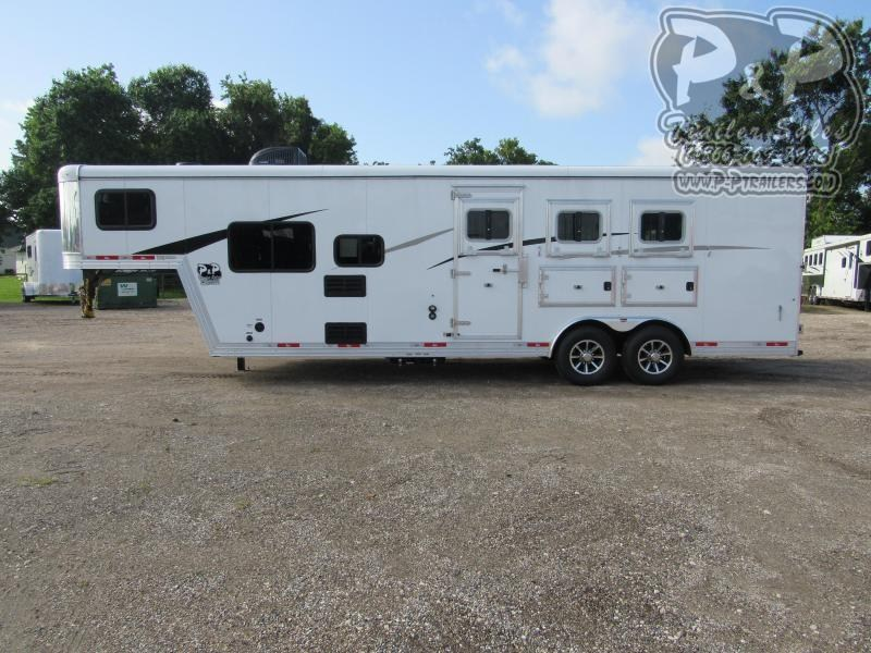 2021 Bison Trailers 8309TBBL 3 Horse Slant Load Trailer 9 FT LQ