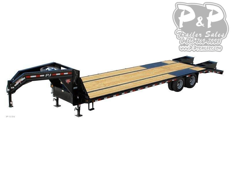 2021 PJ Trailers Low Pro Flatdeck with Duals (LD) 32' Flatbed Trailer