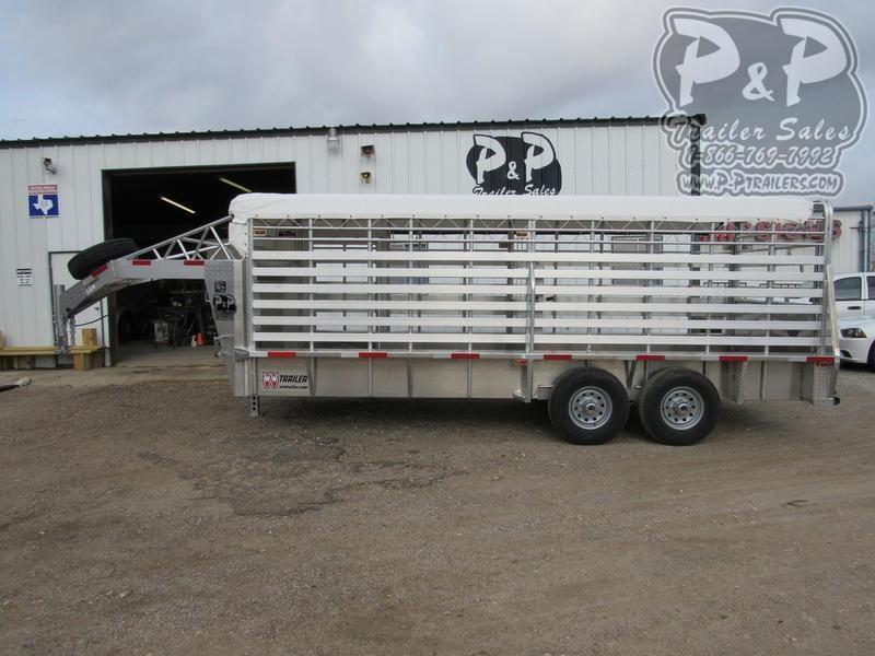 2020 W-W Trailer Alum Roustabout 20 X 6.8 Wide 20 ft Livestock Trailer