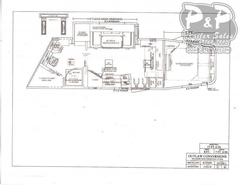 2021 Bloomer 8418PCOLSR Outlaw Conversions 4 Horse Slant Load Trailer 18 FT LQ w/ Slide