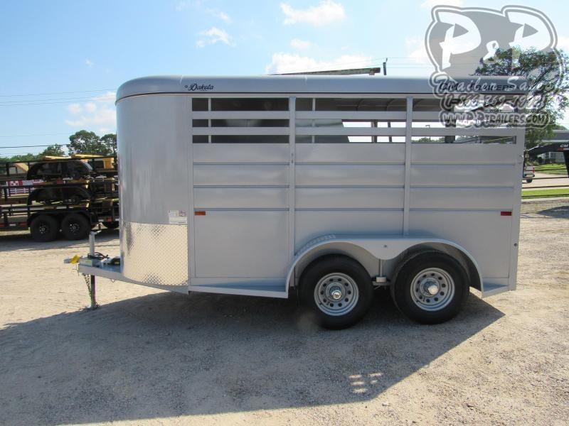 2021 CM Dakota 2 Horse 14x6'x6'6 2 Horse Slant Load Trailer