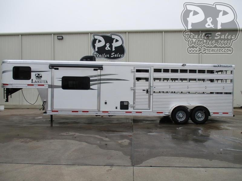 2021 Lakota Charger LE1612 16' Stock 12' Straight Wall with Slide-out Livestock Trailer LQ