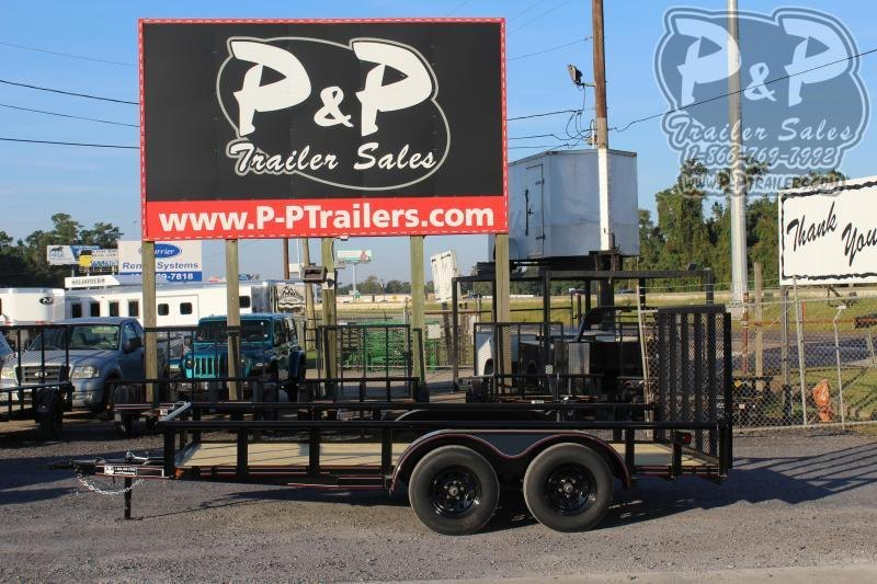 2020 P and P PPTA14X83LDRGPT 14 Utility Trailer