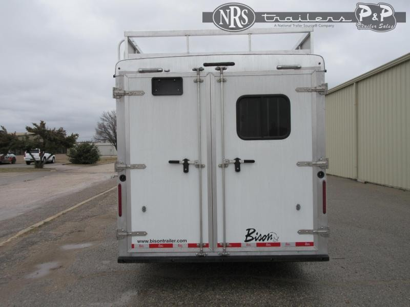 2021 Bison Trailers DS8313B.S 3 Horse Slant Load Trailer 13 FT LQ w/ Slideouts