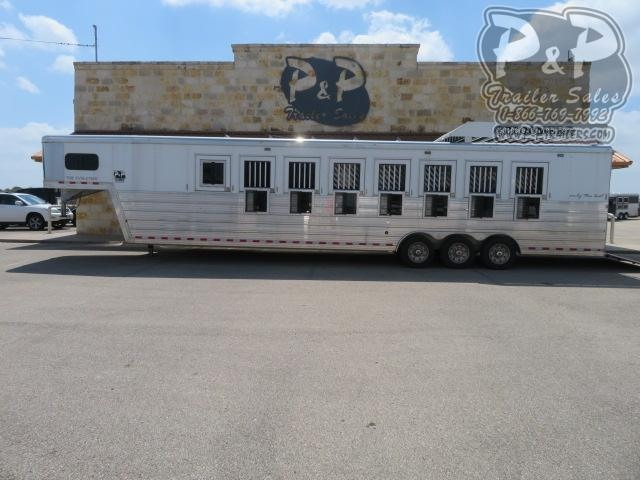 2019 Bloomer Trainer 8 Horse Slant Load Trailer w/ Ramps