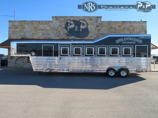2021 Bloomer 86TRN Super Tack Trainer 6 Horse Slant Load Trailer