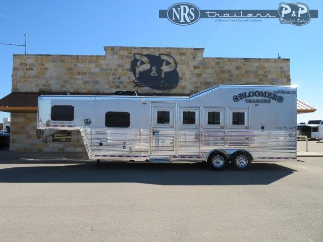 2021 Bloomer 8407PCPL PC Outlaw Proline Conversions 4 Horse Slant Load Trailer 7 FT LQ