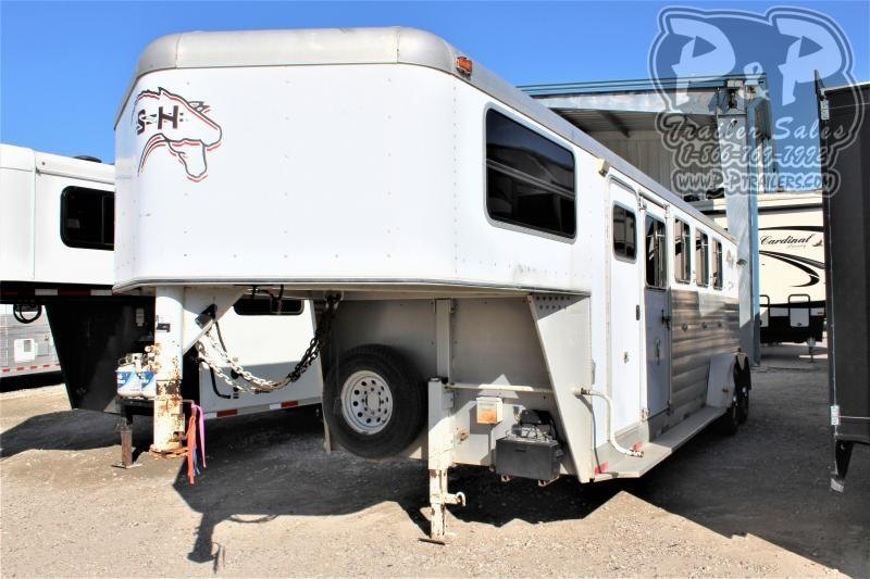 2004 S and H Trailers 7406GN 4 Horse Slant Load Trailer LQ