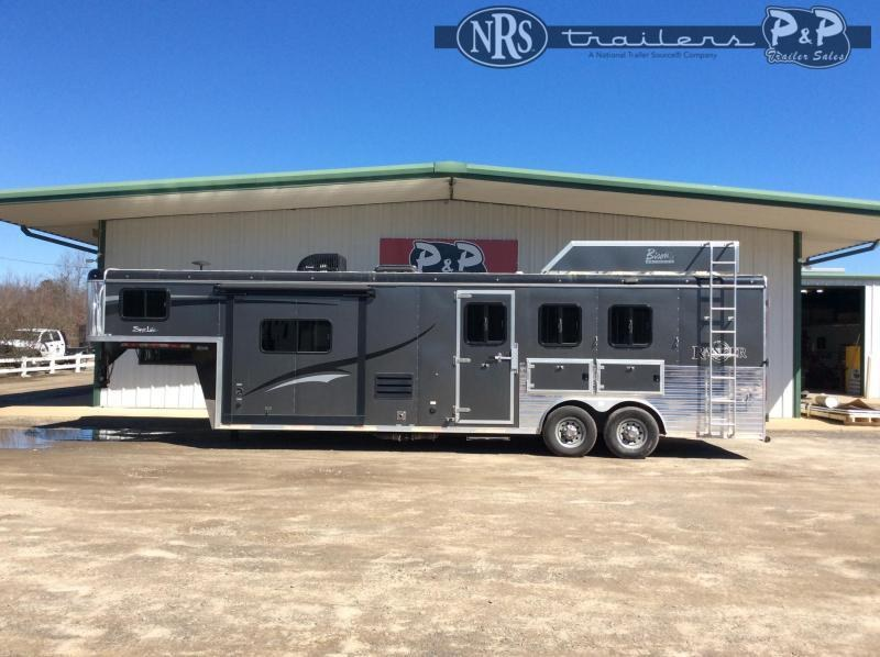 2017 Bison Trailers Ranger 8310RG 3 Horse Slant Load Trailer 10 FT LQ With Slides