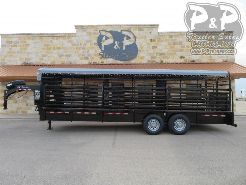 2021 CM CMS9440-24 Brush Buster 24x68x66 Livestock Trailer