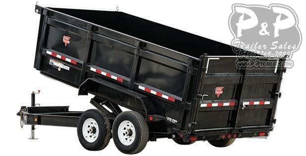"""2021 PJ Trailers 83"""" Low-Pro High Side Dump (DM) DMA1672BSSK 16 ' Dump Trailer"""