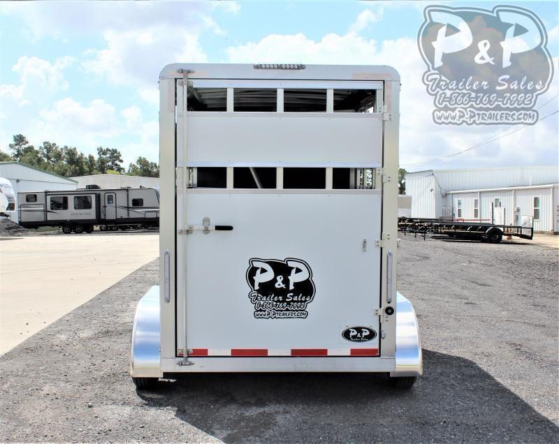 2021 P and P 60136STK 2SL BP 2 Horse Slant Load Trailer