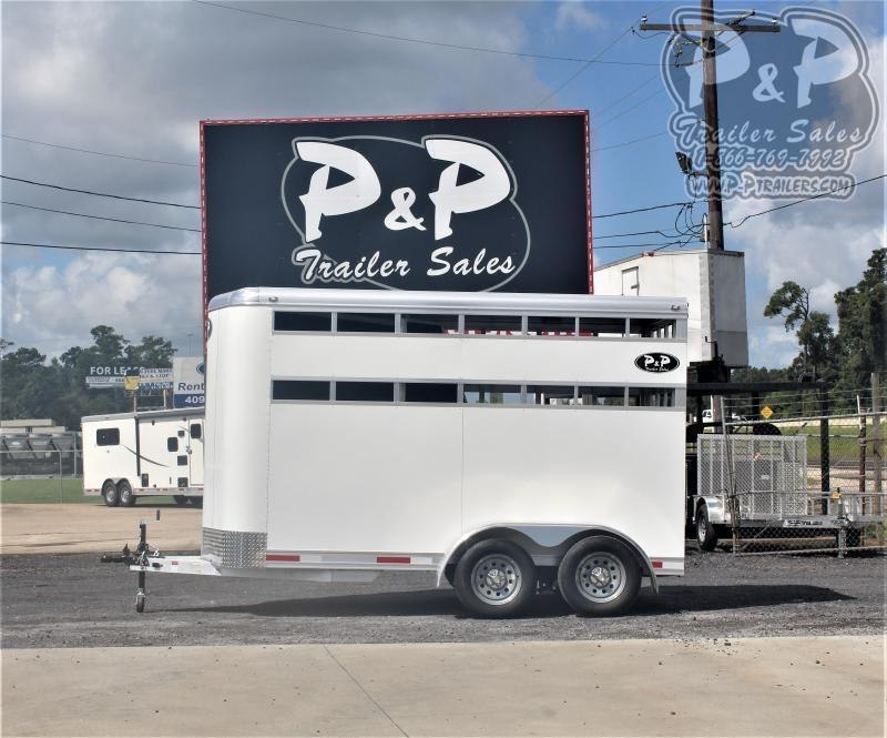 2021 P and P 60136STK 2SL BP 2 Horse Slant Load Trailer