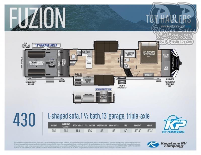 2021 Keystone RV Fuzion 430 Toy Hauler RV