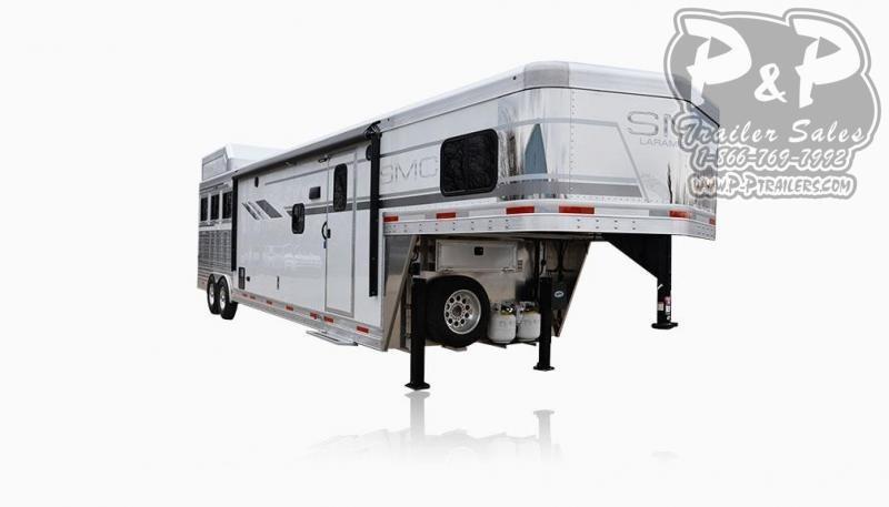 2021 SMC Horse Trailers SL8X15SRKCE 3 Horse Slant Load Trailer 15 FT LQ With Slides