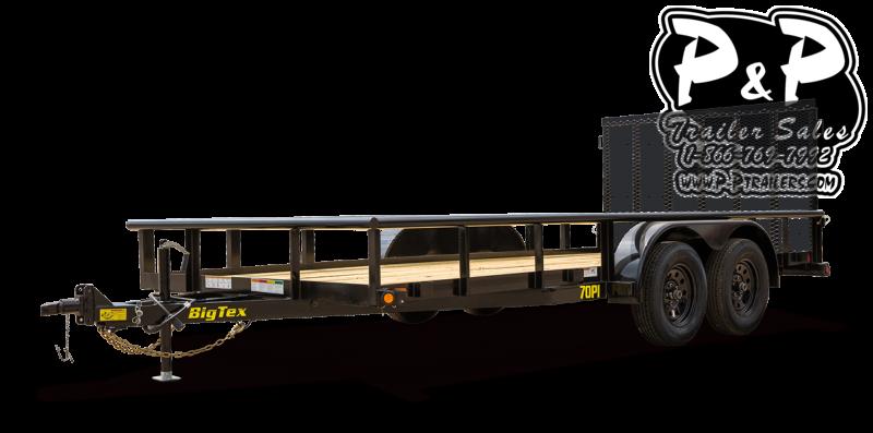 2021 Big Tex Trailers 70PI-16XBK4RG 16 ' Utility Trailer
