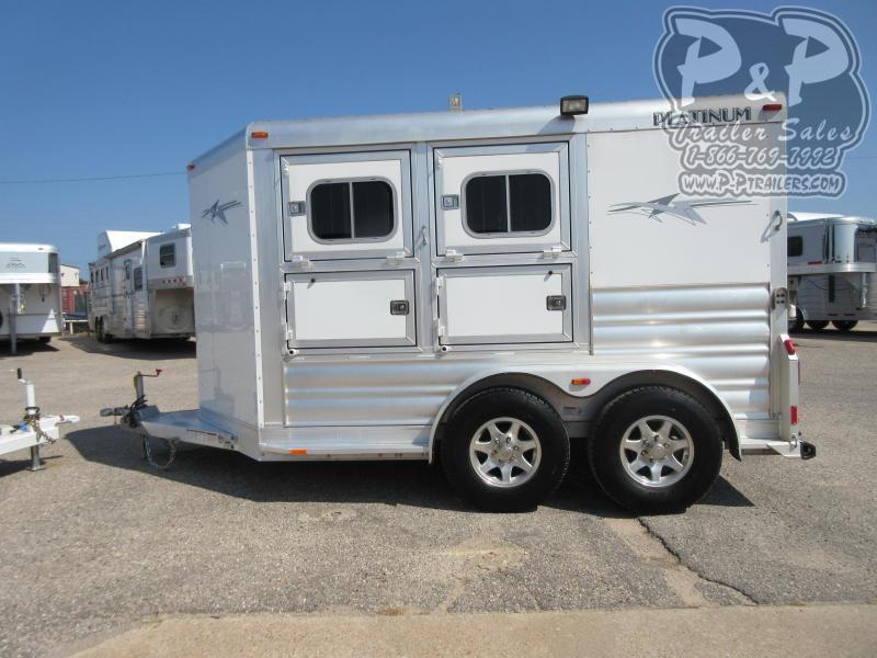 2020 Platinum Coach 2 Horse 2 Horse Slant Load Trailer