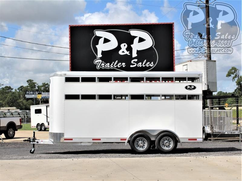 2021 P and P 60170STK-3SL-BP 3 Horse Slant Load Trailer
