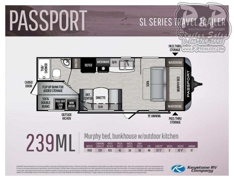 2021 Keystone RV Passport 239ML Travel Trailer RV