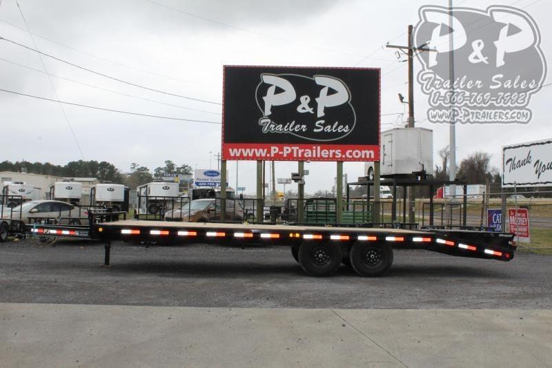 2020 PJ Trailers F8J2472BSYKMR 24' ft Flatbed Trailer