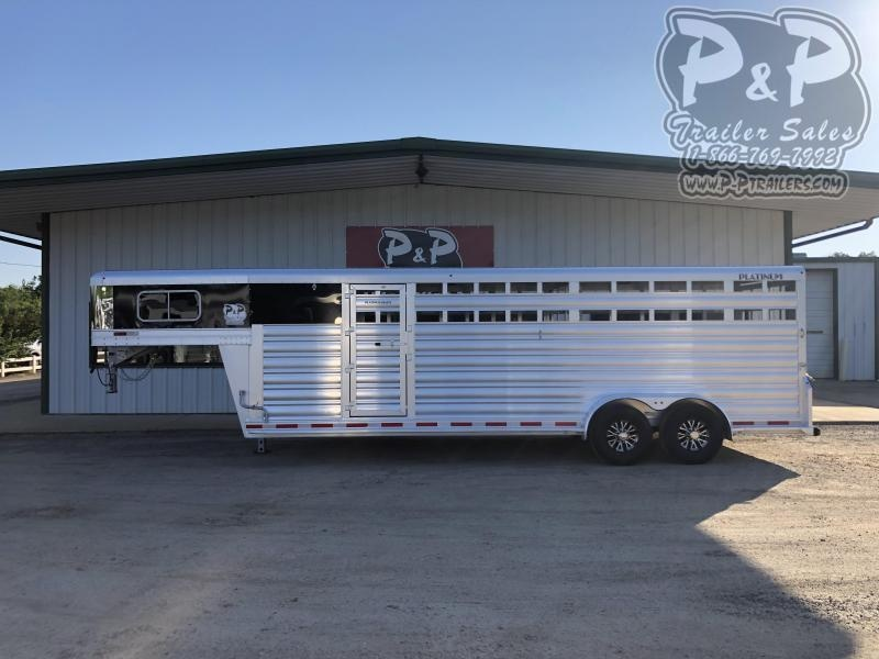 2021 Platinum Coach 724CSGN 24 ft Livestock Trailer