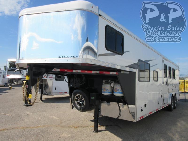 2021 Bison Trailers Ranger 8309RGBL 3 Horse Slant Load Trailer 9 FT LQ