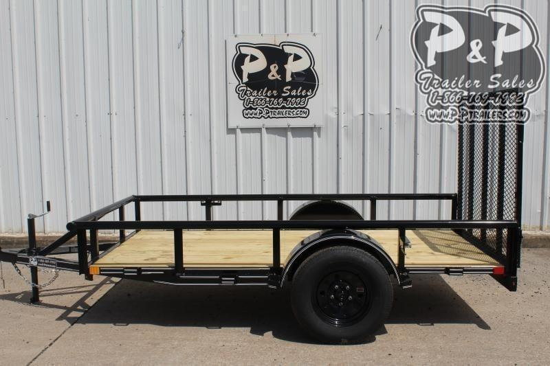 "2021 P and P PPSA10X60LDRGPT 60"" x 10 ' Utility Trailer"